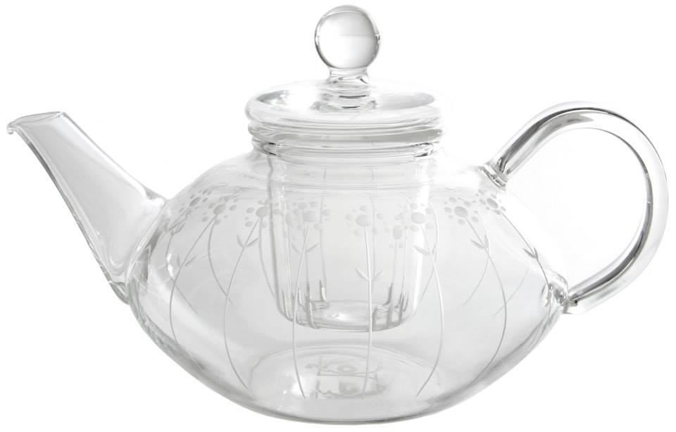 Engraved Glass Teapots