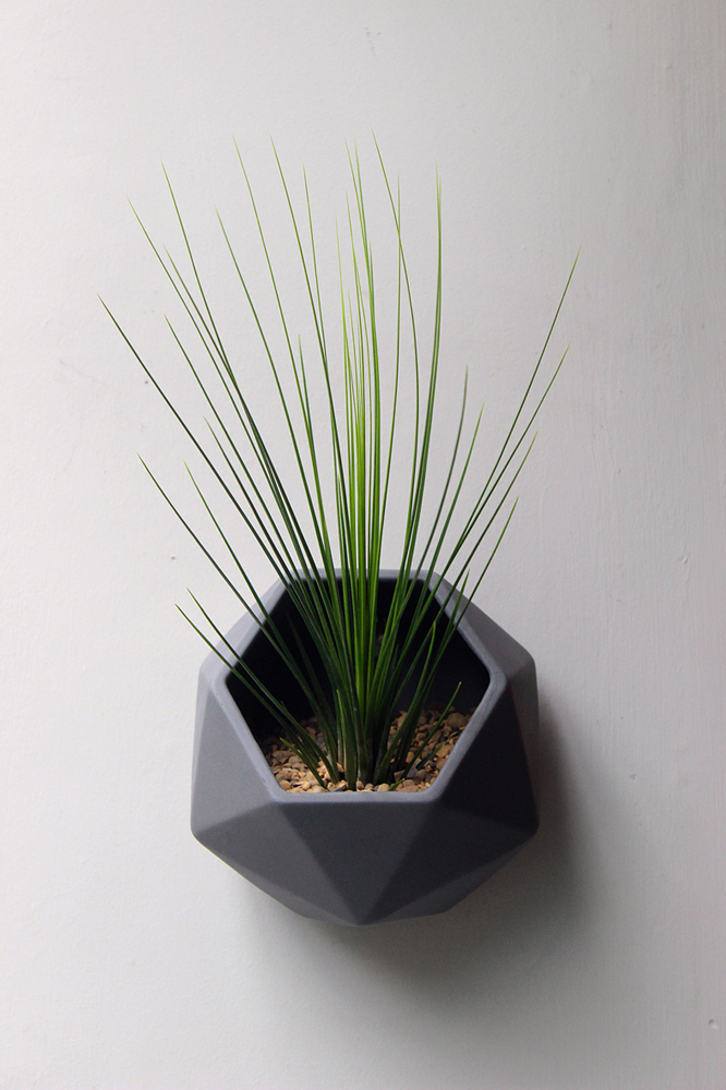 Wall Mounted Facet Planter