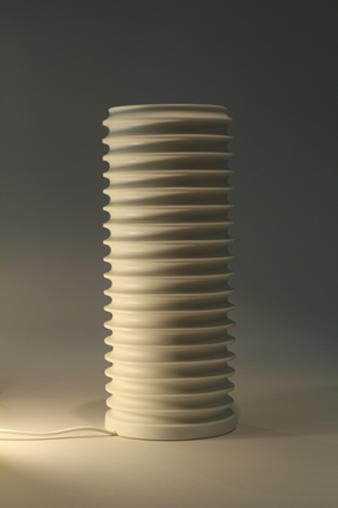 Tall Ribbed Lamp