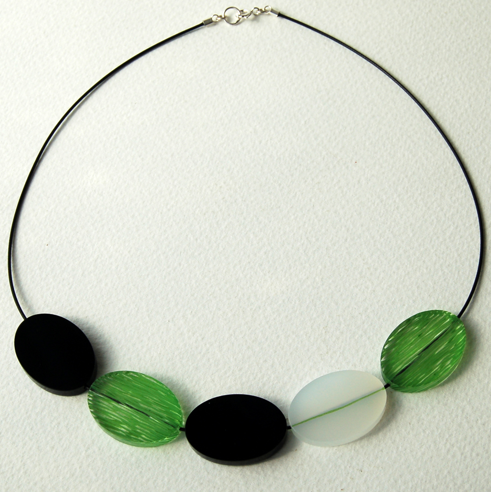 Bright Green Void Necklace
