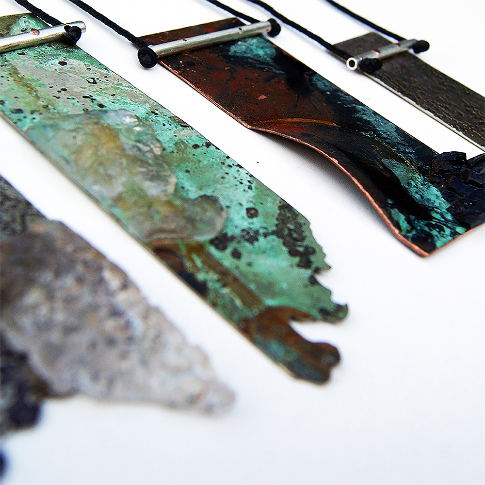 Patina necklaces
