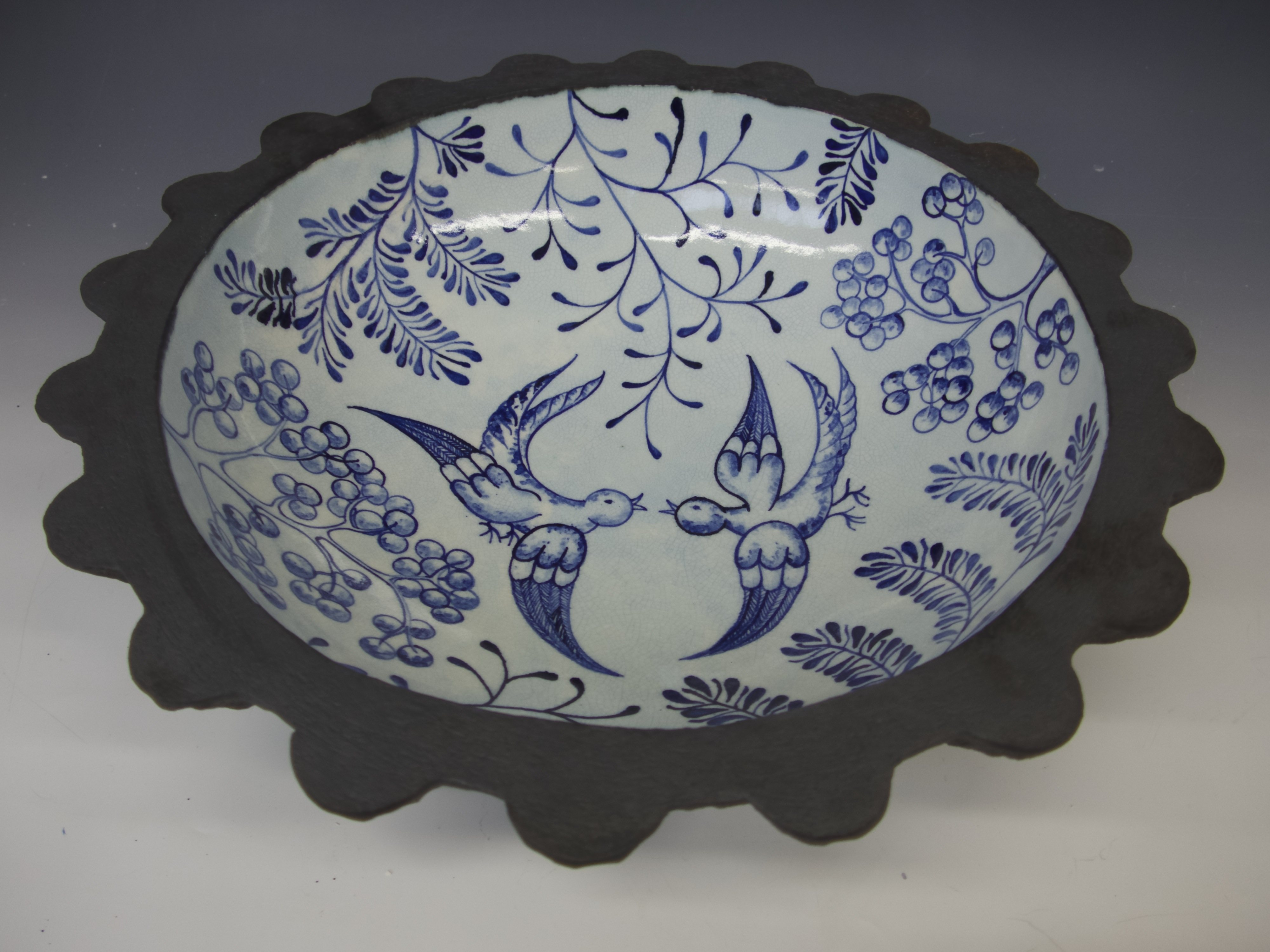 Blue bird bowl