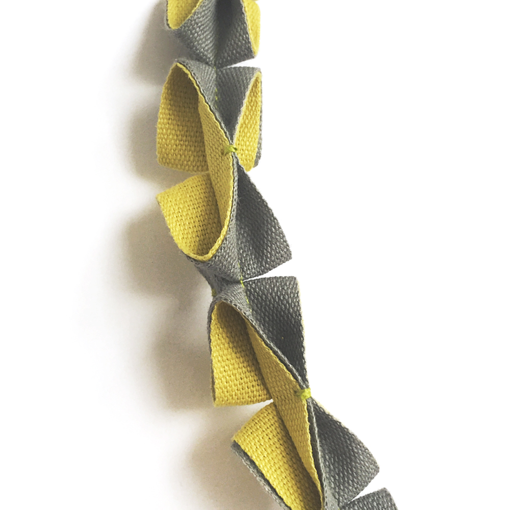 Grey and Mustard Burano Origami Necklace