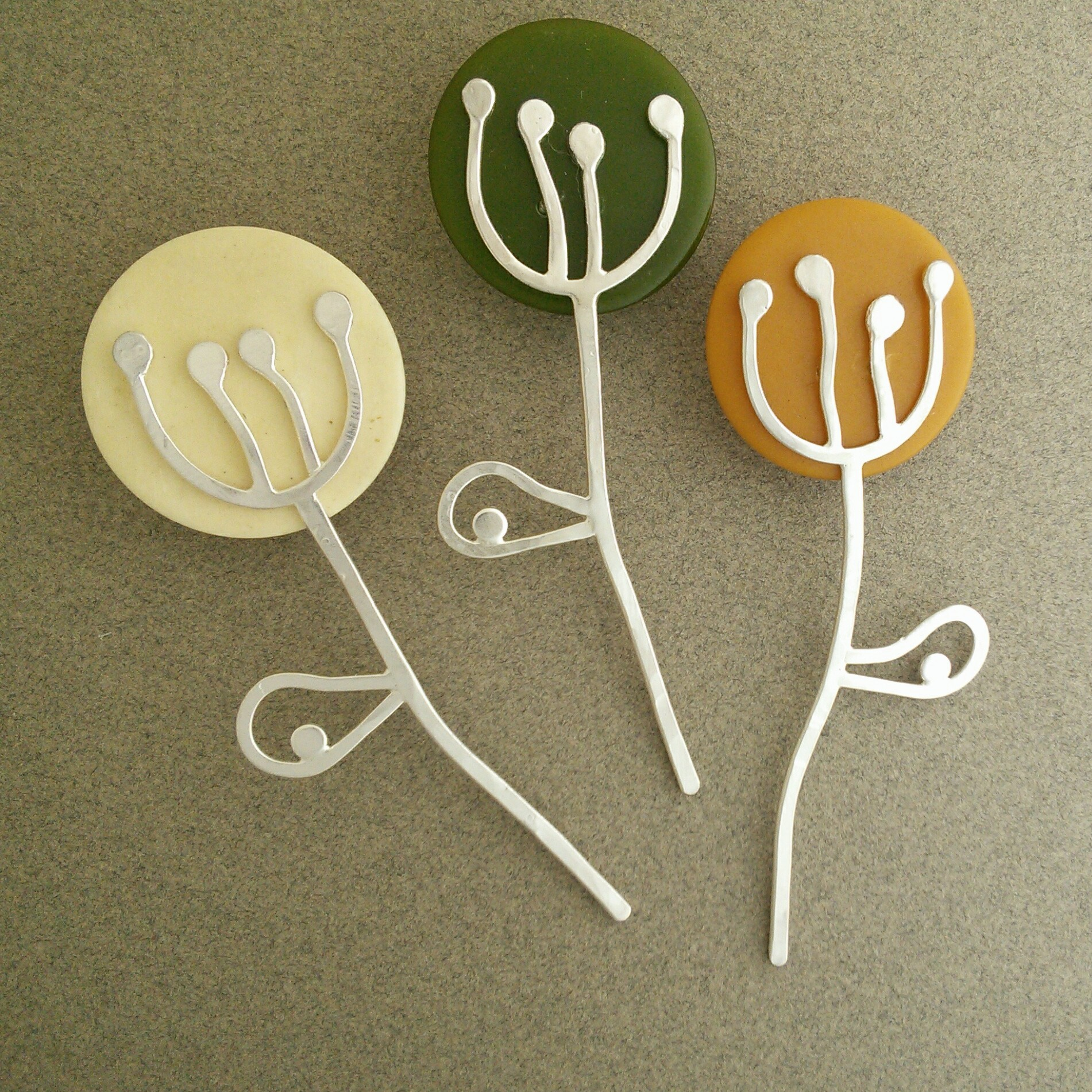 Seed Head Brooch Pins