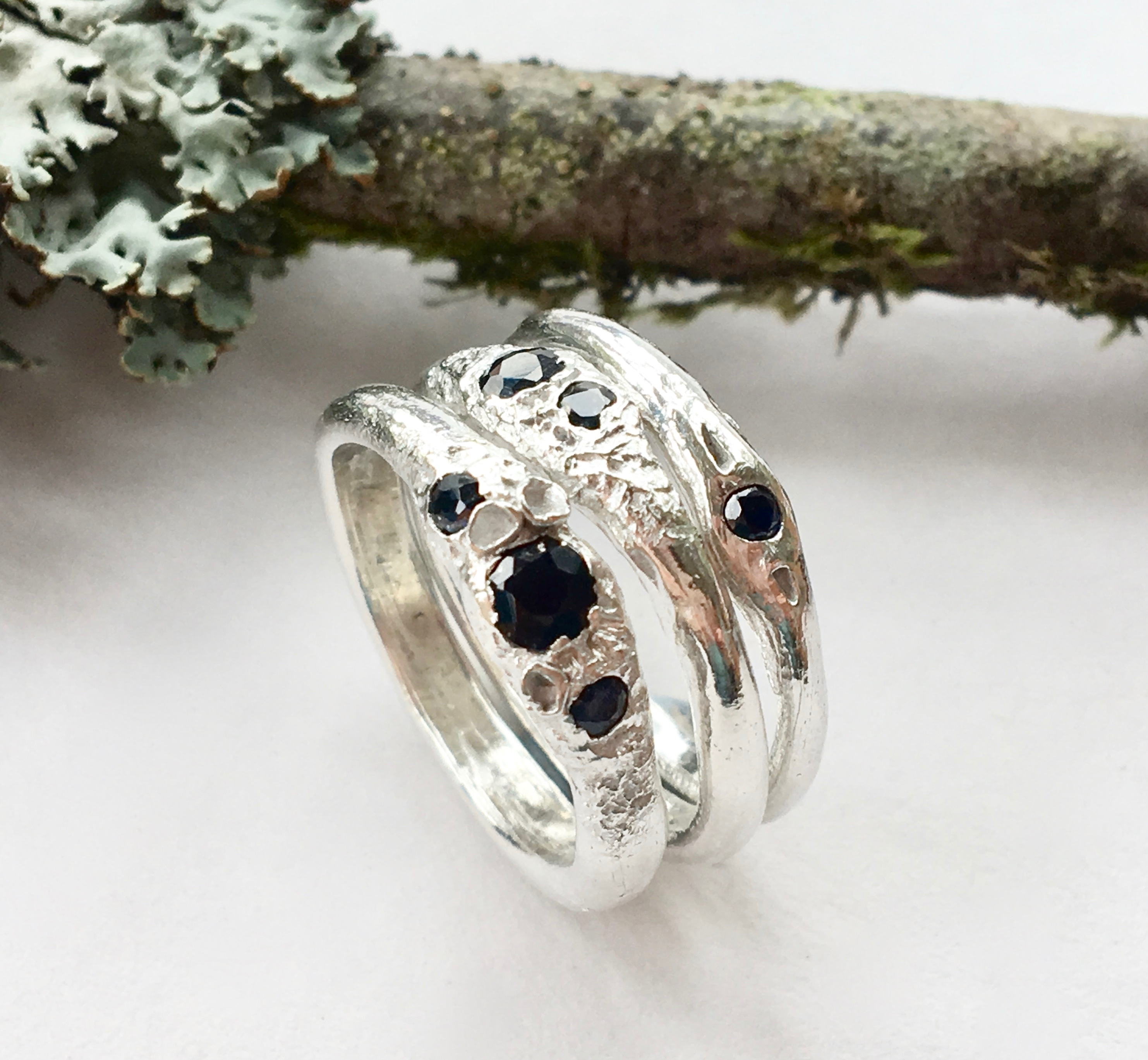 FOREST RAIN STACKING RINGS