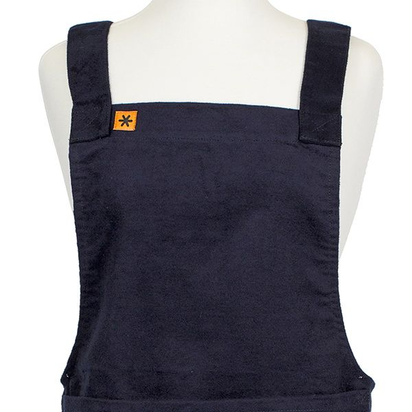 The Stitch Society Navy Moleskin Susie Apron Front
